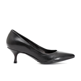 Nappa pumps with low heel