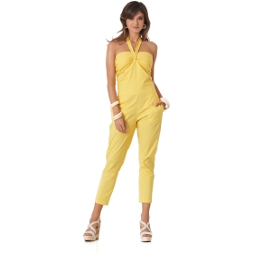 JUMPSUIT WITH BOW Yellow 38