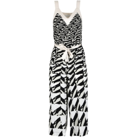 PATTERENED JUMPSUIT WITH THIN STRAPS Multicolor 38