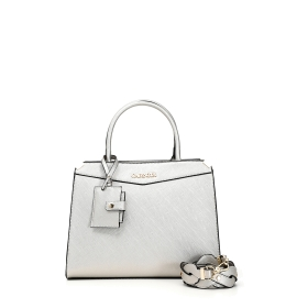 Bowling bag with outer mirror and matching braided shoulder strap