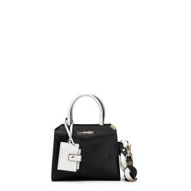 Mini bag with outer mirror and matching braided shoulder strap