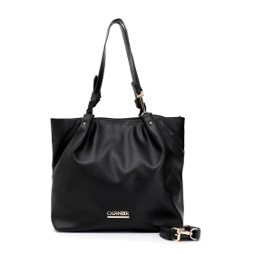 Shopping bag with snap hooks on the straps