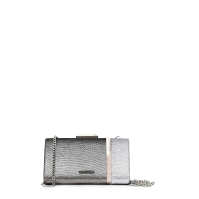 Two-tone sequinned clutch bag