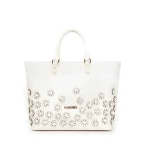 Shopping bag with relief petite flowers