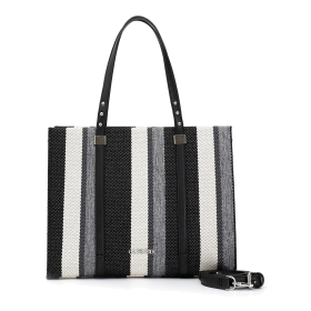 Hard shopping bag with vertical stripes