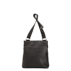 Masculine shoulder bag with hidden zip pocket