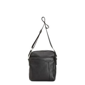 Masculine shoulder bag with sewn pocket