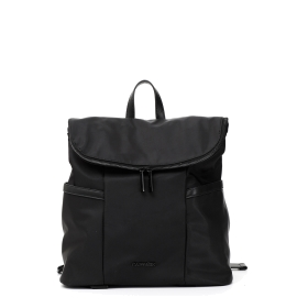 Backpack with zipped flap