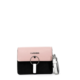 Shoulder bag with round accessory