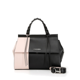 Two-tone satchel