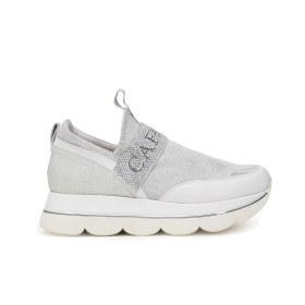 Slip-on shoes with Lurex stretch band