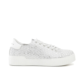 Patent woven sneakers