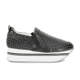 Maxi sole slip-on shoes with small studs
