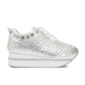 Maxi sole patent sneakers