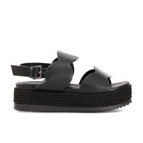 Jesus sandals with scallop-edged bands