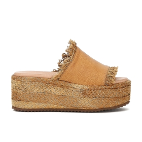 Leather slip-on shoes with tassels