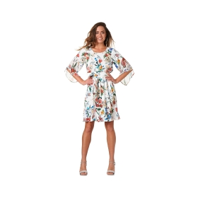 Printed wrapover dress