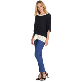 Top with wide flared sleeves and Lurex details