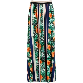 Stretch exotic long skirt
