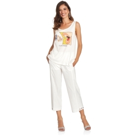 Skinny-fit culotte trousers
