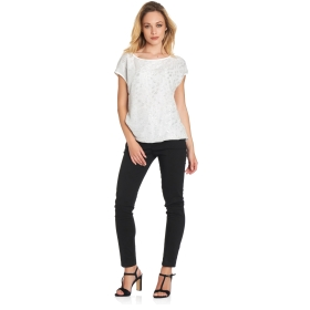 T-shirt with sequinned front