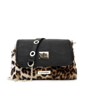 Fake fur mini bag