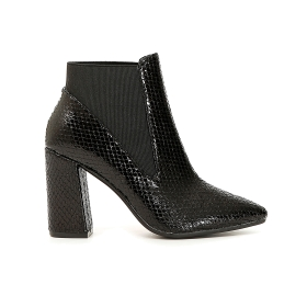 Python print ankle boots with heel and side elastic panel