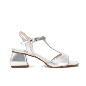Patent leather T bar sandals