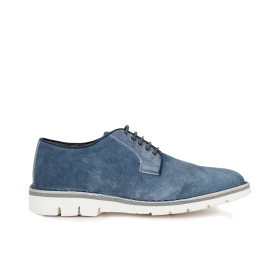 Suede lace-up brogues