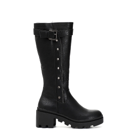 Special price: Imitation leather boots with ankle strap
