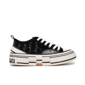 Floral lace sneakers Black 36