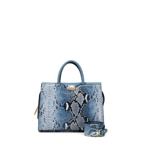 BOWLING BAG WITH MULTICOLOUR PYTHON INSERTS Blue TGU